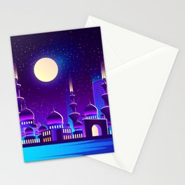 Synthwave Space #43 Stationery Cards