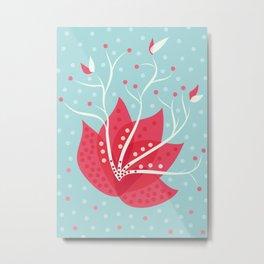 Exotic Winter Flower Metal Print