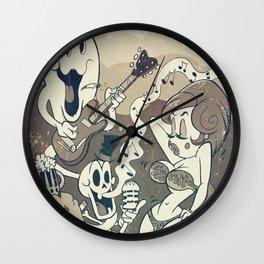 Rock'n'roll cemetery Wall Clock