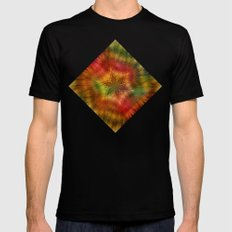 Psychedelic time warp Black Mens Fitted Tee MEDIUM