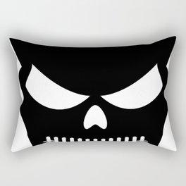 Black Skull Rectangular Pillow