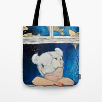 dreamer Tote Bags featuring Dreamer by Zina Nedelcheva
