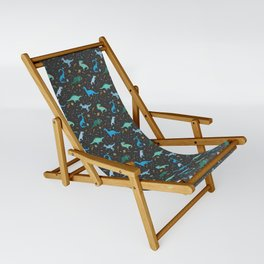 Dinosaurs in Space in Blue Sling Chair