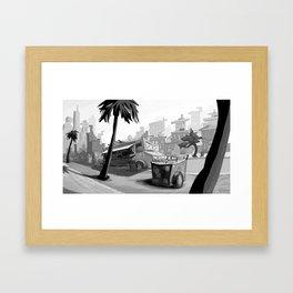 Vendors at Echo Park Framed Art Print