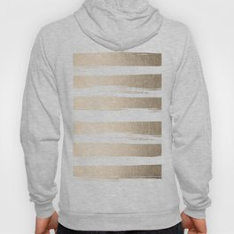 White Gold Sands Painted Thick Stripes Hoody