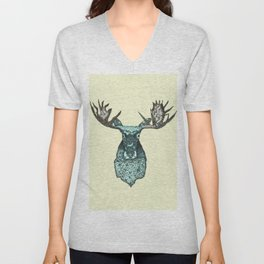 deer in the headlights Unisex V-Neck