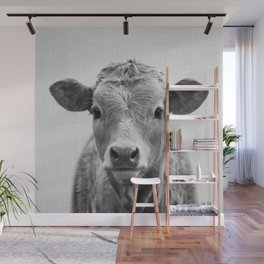 Cow 2 - Black & White Wall Mural