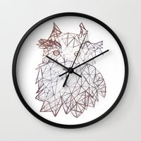 schnauzer Wall Clocks featuring schnauzer  by monicamarcov