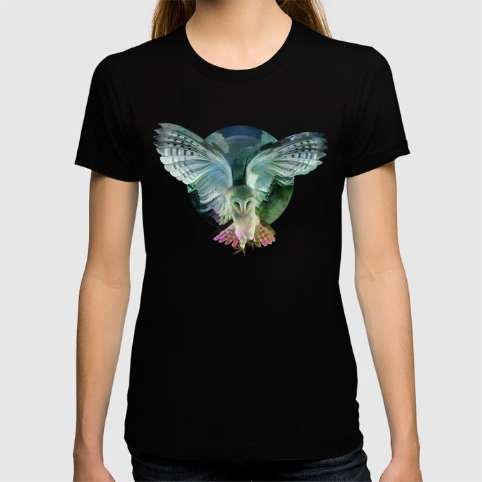 """Owl flight and spring night"" T-shirt"