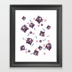 Cats and Squiggles Framed Art Print
