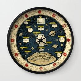 Horoscope Chart Wall Clock