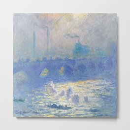Claude Monet's Waterloo Bridge Metal Print