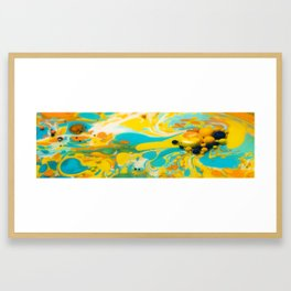 Colorful abstract background out of colors Framed Art Print