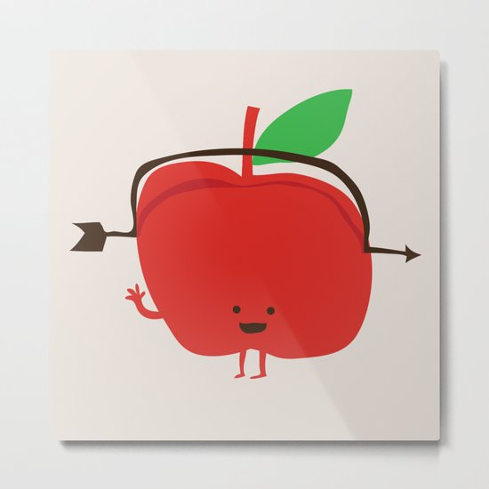 The Apple and The Arrow Metal Print