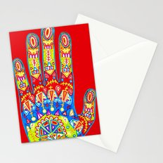 A really colourful hand Stationery Cards