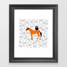 Owl Unicorn Framed Art Print