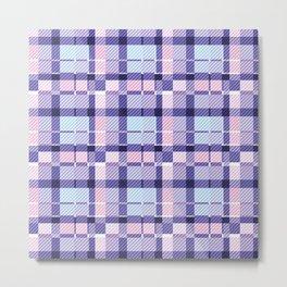 Blueberry Tart(an) Metal Print