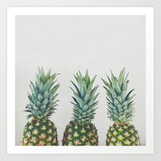 Pineapple Trio Art Print