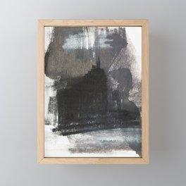 Abstract Texture, Black White & Grey Texture 1 Framed Mini Art Print