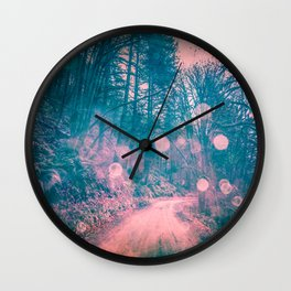 Pink Magical Path Wall Clock