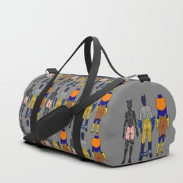Superhero Butts Love 7 - Cat Bats Duffle Bag