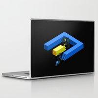 tron Laptop & iPad Skins featuring Tron Wall by Krzysztof Kaluszka