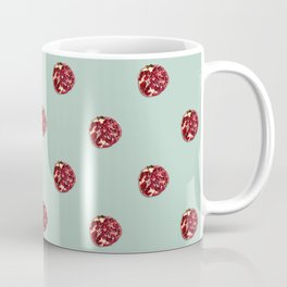 Pomegranates Grid Mint Coffee Mug