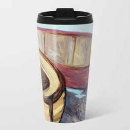 Boats on the Bank Travel Mug