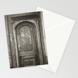 Authentic door shows beauty of the wood and beauty of the past, film photography Stationery Cards