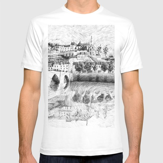 Terrasson village - France drawing T-shirt