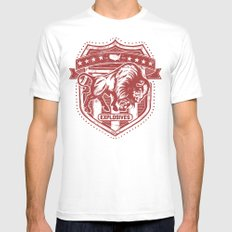 Buffalo Explosives White Mens Fitted Tee MEDIUM