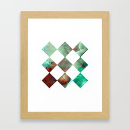MARBLED ONYX & GEOMETRIC I Framed Art Print