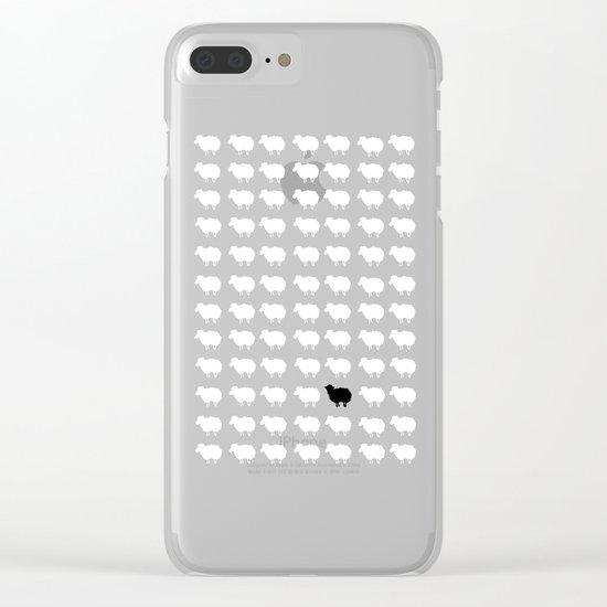 Black sheep Clear iPhone Case