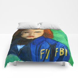 Agent Scully FBI Comforters