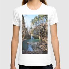 Alone in Secret Hollow with the Caves, Cascades, and Critters - Approaching the Falls T-shirt