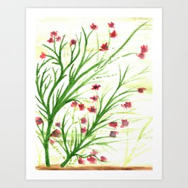 Red blossoms Art Print