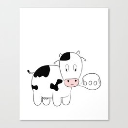 SOLD! Scary Cow - Inspired by a True Incident! Canvas Print