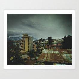 Kathmandu City Roof Top 003 Art Print