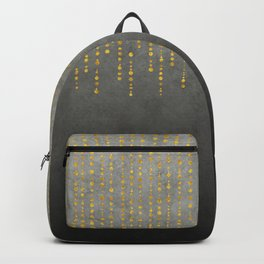 Dark Glamour golden faux glitter Backpack