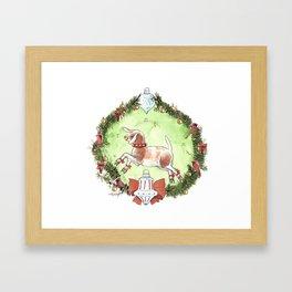 Christmas Goat Framed Art Print