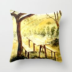 Wineyards Throw Pillow