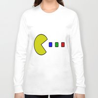 pacman Long Sleeve T-shirts featuring Pacman by ArtSchool