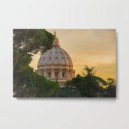 Sunset At The Vatican Metal Print