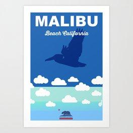 Malibu - California.  Art Print