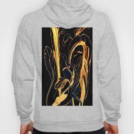 Plant in Blue Marker - Leaf of Life Miracle Leaf - Black and Gold Hoody
