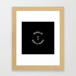 Brooklyn - NY, USA (Badge) Framed Art Print