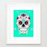 calavera Framed Art Prints featuring Calavera by yoaz