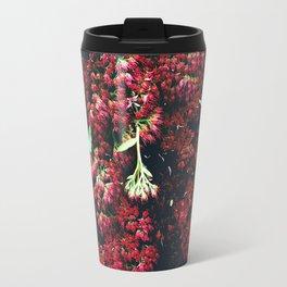 Burgundy Sedum Flowers Travel Mug