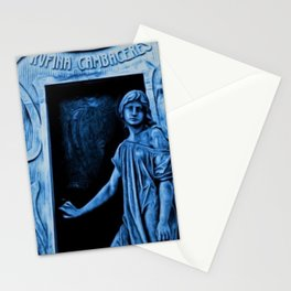 Tomb of Rufina Cambaceres - The Girl That Died Twice Portrait Painting by Jeanpaul Ferro Stationery Cards