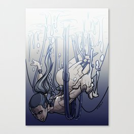 female cyborg Canvas Print